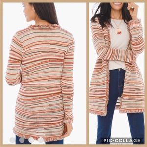 CHICO'S 🧡 Orange Multi-Color Zig Zag Cardigan